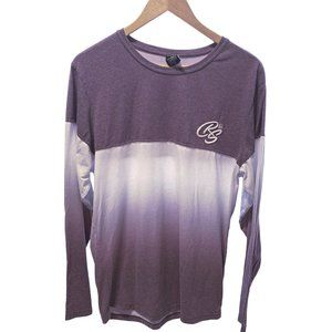 Crosshatch Black Label Mauve Ombre Long Sleeve Tee